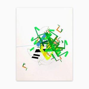 A Fiiane Was Ilaand 8, Abstract Painting, 2021