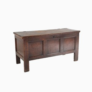 Early 18th Century Georgian Solid Oak Coffer Chest, 1700s