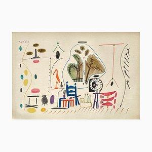 Carnet De Californie 28, Arches, Pablo Picasso, 1959