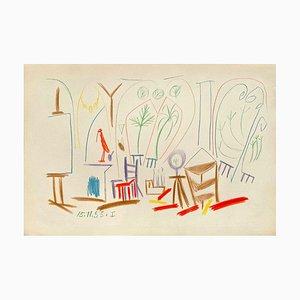 Carnet De Californie 33, Arches, Pablo Picasso, 1959