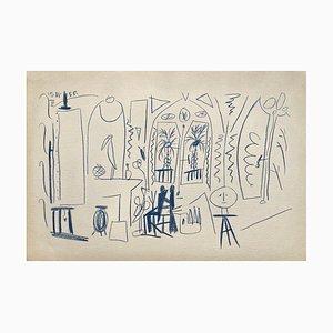 Carnet De Californie 35, Arches, Pablo Picasso, 1959