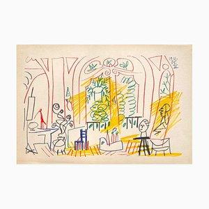 Carnet De Californie 37, Arches, Pablo Picasso, 1959