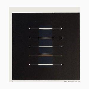 Composition Sur Fond Noir by Alberte Garibbo, 1985