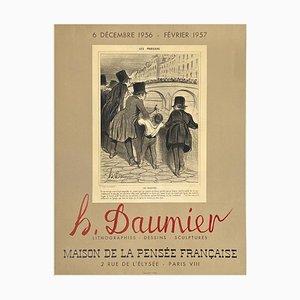 Expo 56 Maison de la Pensée Française Poster by Honoré Daumier