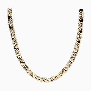 18 Karat Yellow and White Gold Marcello Bicego Necklace