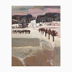 Jean Krillé, Paysage enneigé Tableau No. 50, 1986