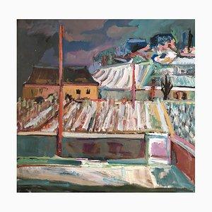 Jean Krillé, Vue sur les vignes du village Tableau N°81, 1985
