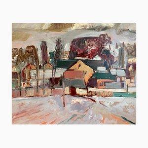 Jean Krillé, Village en hiver Tableau 39, 1986