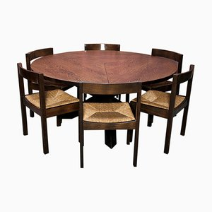 Vintage Round Tripod Dining Table by Martin Visser and Walter Antonis fo T Spectrum
