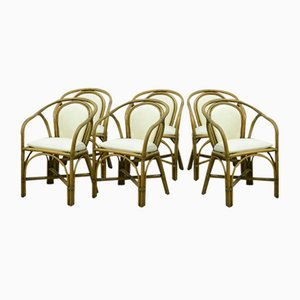 Vintage Bamboo Chairs, Set of 6