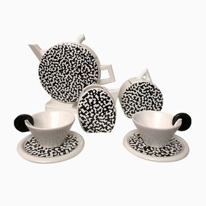 Tea or Coffee Service by Massimo Materassi for MAS, 1985, Set of 8
