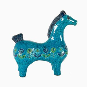 Vintage Italian Ceramic Horse Figurine by Aldo Londi for Bitossi 1960s