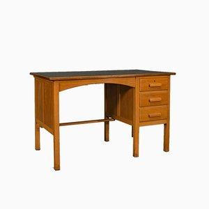 Vintage English Oak Clerks Desk, 1960s
