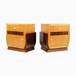 French Art Deco Bedside Cabinets, 1930s, Set of 2