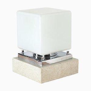 Art Deco Travertine Lamp