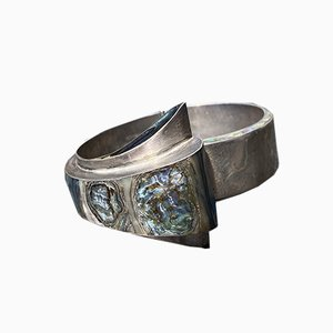 Bracciale MCM Taxco vintage in argento sterling e abalone di EAC