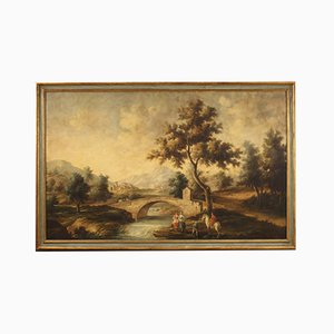 Italian Painting, Landscape with Figures