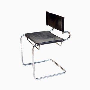 Italian Terrj Leather Chair by Luigi Saccardo for Arrmet