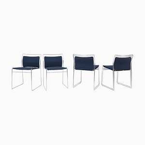 Steel and Cotton Chairs by Kazuhide Takahama for Gavina, Set of 4