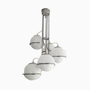 Italian Space Age Cascading Globe Chandelier by Gino Sarfatti, 1960s