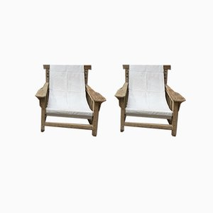 No. 17 Hamac Lounge Chairs by Robert Mallet-Stevens, 1925, Set of 2