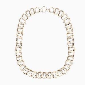 Collar de plata con eslabones dobles