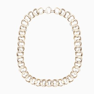 Double Link Silver Necklace