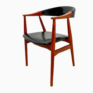 Danish Leather Dining Chair, 1960s