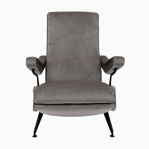 Mid-Century Modern Reclining Armchair by Nello Pini for Oscar Gigante, Italy, 1959