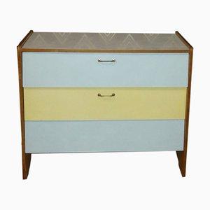 Pastel Formica Shoe Cabinet, 1950s
