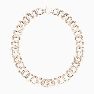 Doppelte Link Silber Halskette