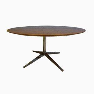 Table de Salle à Manger Ronde en Chêne Attribuée à Florence Knoll Bassett pour Knoll Inc. / Knoll International