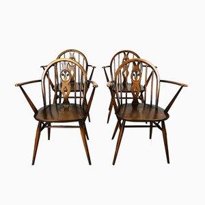 Vintage Fleur De Lys Chairs by Lucian Ercolani for Ercol, 1960s, Set of 4