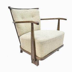 Model 1590 Easy Chair in Dark Stained Elm Wood from Fritz Hansen