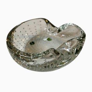 Murano Bullicante Clear Bubble Glass Ashtray from Seguso, 1950s