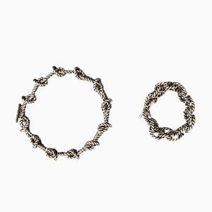 Collana e bracciale in argento sterling 925