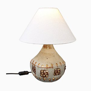 Vintage Ceramic Table Lamp in the Style of Georges Pelletier, 1970s