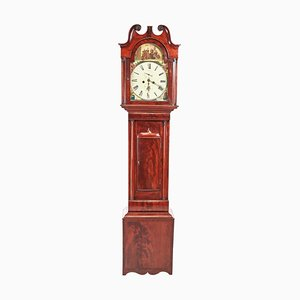 Antique George III Mahogany Eight Day Grandfather Clock