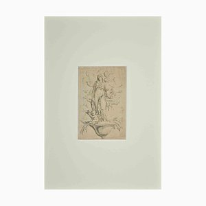 Unknown, Study for a Frieze, Original Pen Drawing, 18th-Century