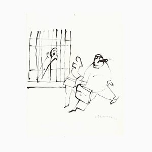Unknown, I Am Innocent!, Original Drawing on Paper, 1970s