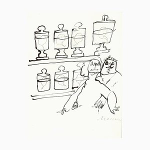 Unknown, Elixir of Love, Original Drawing on Paper, 1970s