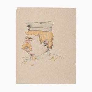 Unknown, Caricature, Original Drawing on Paper, Early 20th-Century