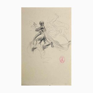 Georges Picard, Figure, Original Drawing in Pencil, Early 20th-Century