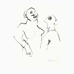 Unknown, Bad News!, Original Drawing on Paper, 1970s