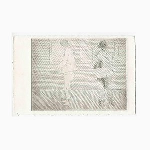 Unknown, The Exhibition, Original Etching and Drypoint, Mid-20th-Century
