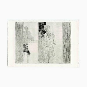 Unknown, Loneliness, Original Etching and Drypoint, Mid-20th-Century