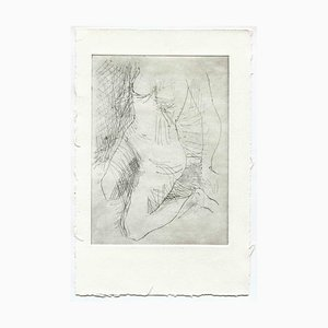 Unknown, Nude, Original Etching and Drypoint, Mid-20th-Century