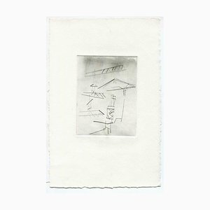 Unknown, Under Construction, Original Etching and Drypoint, Mid-20th-Century