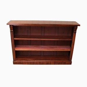 Long Open Mahogany Bookcase