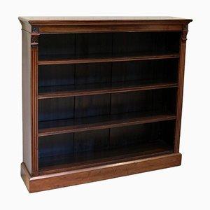 Late 19th Century Open Mahogany Bookcase